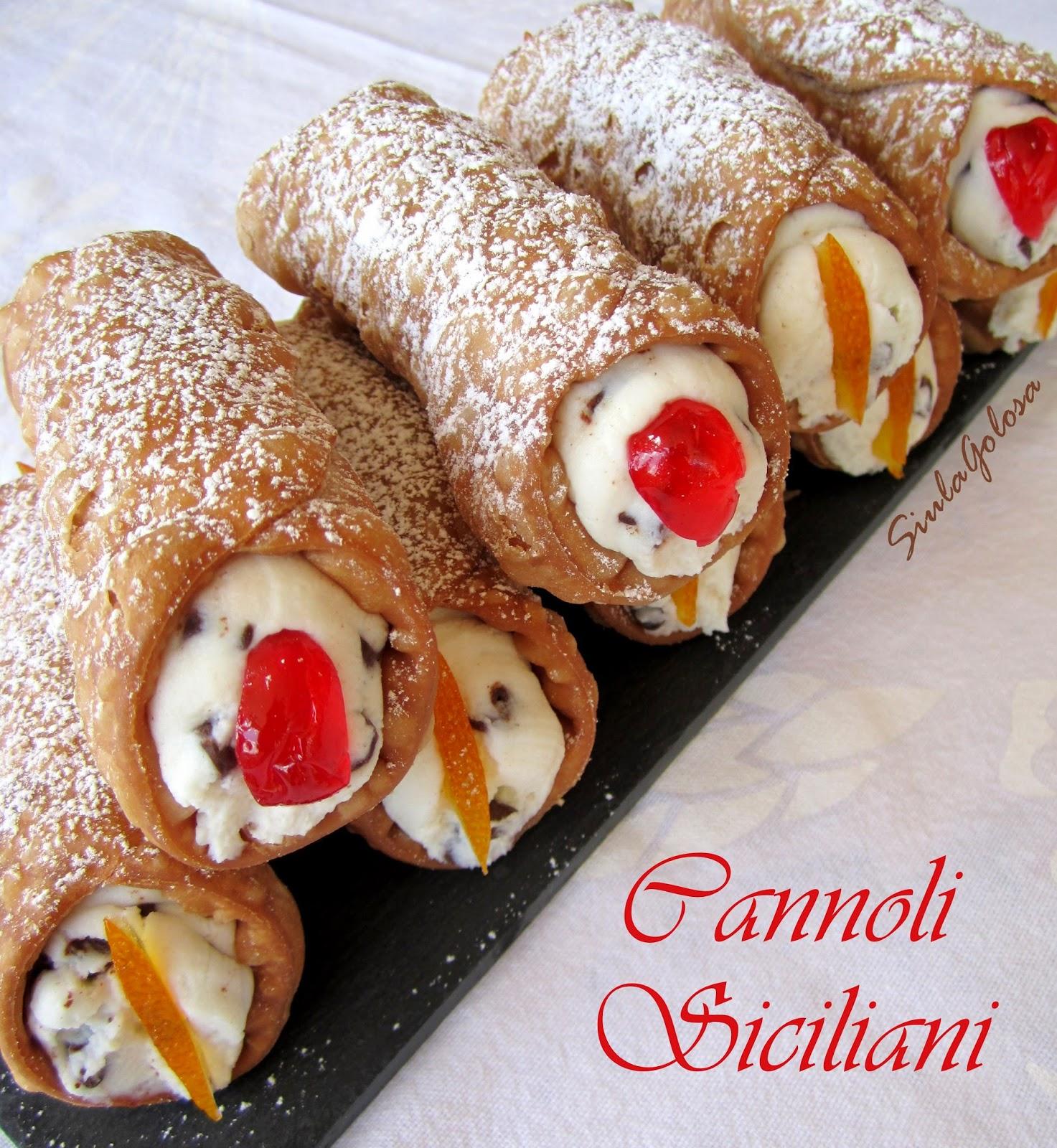 Siula Golosa Cannoli Siciliani