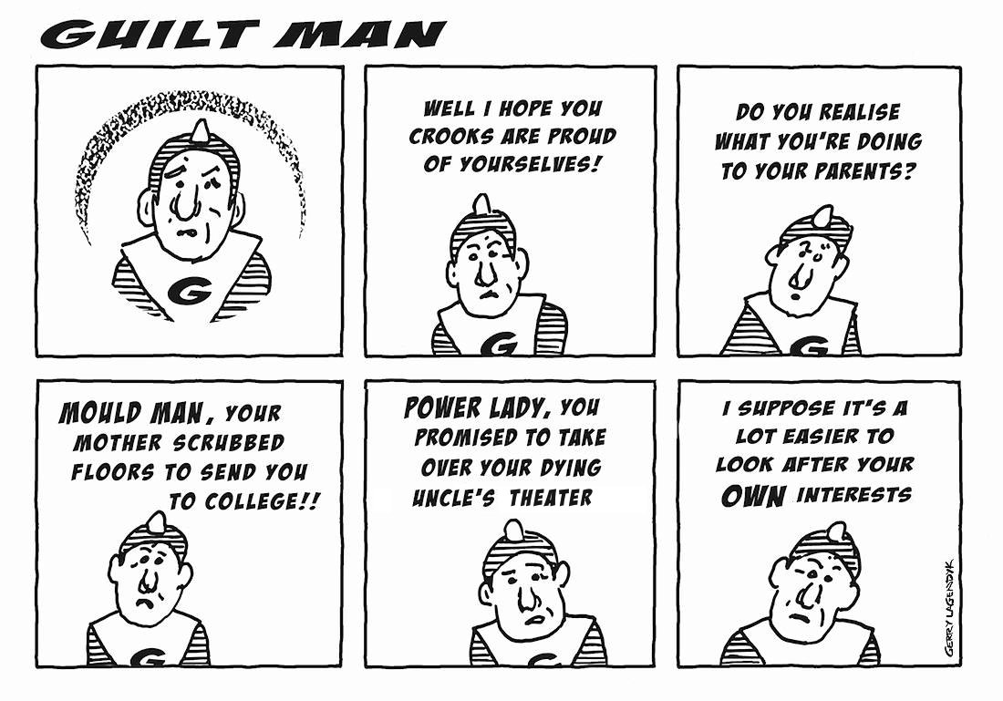 guilt man, a cartoon