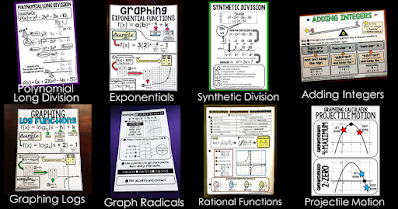 This post is a collection of free printable math cheat sheets for tricky math topics. Some I made for my own students, others came from teacher requests. Students can slip them into their binders or you can enlarge them to make anchor charts as part of your math classroom setup (directions to do this are linked below). Every math cheat sheet in this post is free. Some also now include links to short video tutorials that can be sent to students who are absent, assigned in a flipped classroom or referenced as an added support during homework.