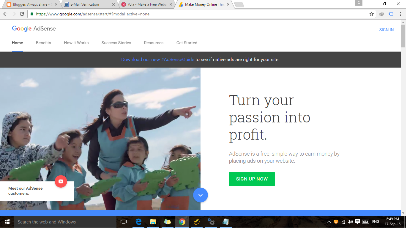 how to create a website of cost for google adsense  adsense