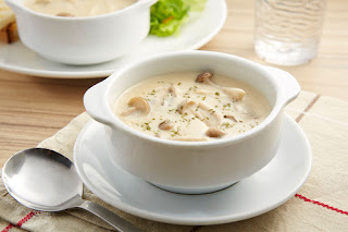 Mushroom Soup with Chicken (Tavuklu Mantar Corbasi)