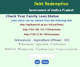 AP Rythu Runa Mafi Online List Status