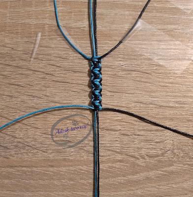 Adzik tworzy - DIY bransoletka ze sznurków splot dwukolorowy
