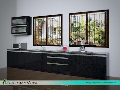 Desain 3d Kitchen set minimalis
