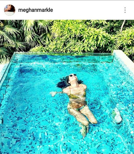 Meghan Markle swimming pool