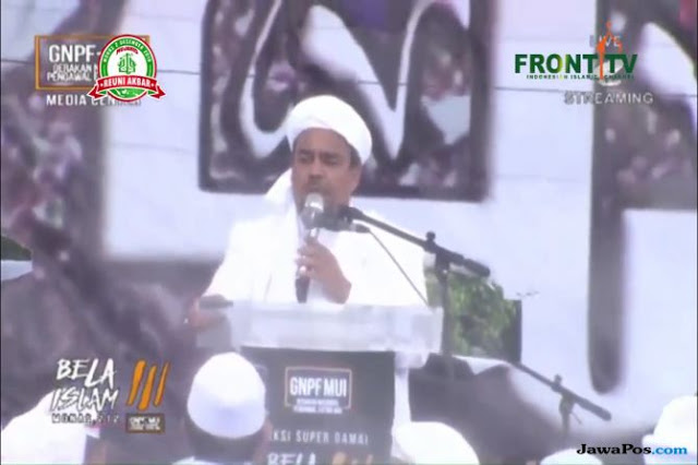 Habib Rizieq Ceramah, Live Streaming Reuni 212 Sempat Di-suspend Youtube