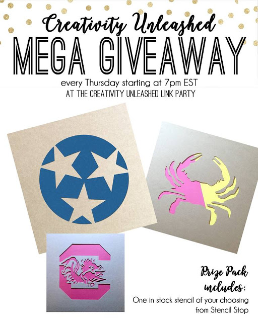 A Stencil Stop Giveaway and Creativity Unleashed #178 link party at MyLove2Create