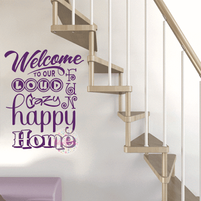 vinilo decorativo welcome