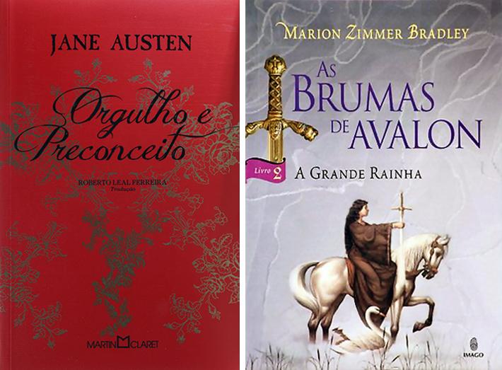 Livros: Orgulho e Preconceito, de Jane Austen | As Brumas de Avalon