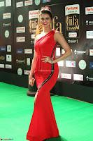 Meenakshi Dixit in Red One Shoulder Red Zipped up gown at IIFA Utsavam Award 79.JPG