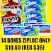 14 Boxes of 90ct Ziploc Sandwich Bags + Box of Cheerios Only $10.36 (Reg $40) + Free Shipping or 9 Boxes of 28ct Ziploc Freezer Gallon Bags $12.26