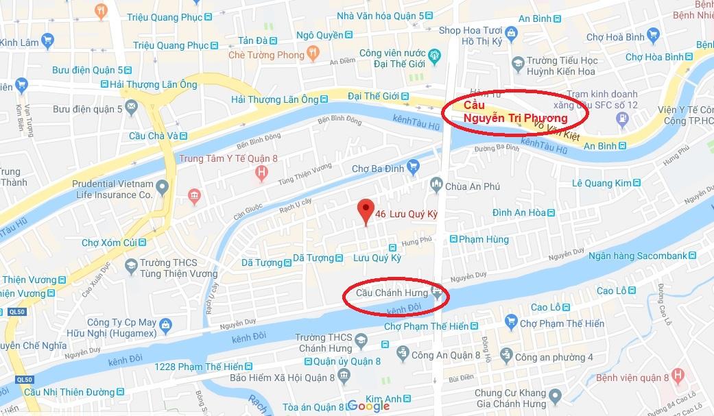 Bán nhà hẻm 46 Lưu Quý Kỳ phường 10 Quận 8. DT 3,23 x 6,68m