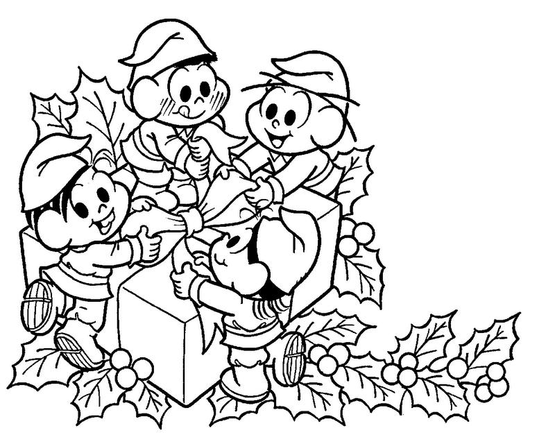 Natal Lindo Com Os Desenhos Da Turma Da Mônica Desenhos