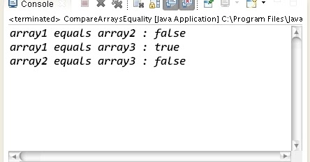 How to compare two or more arrays equality in Java
