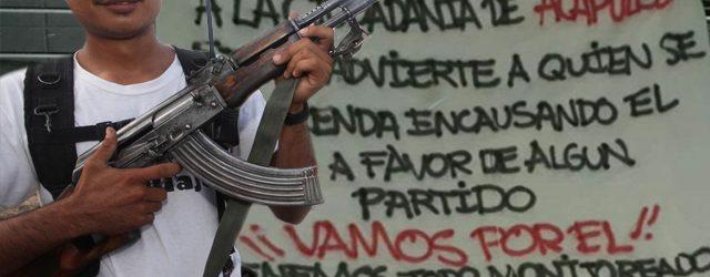 ¡A falta de autoridades! Narco amenaza de muerte a personas que cometan delitos electorales
