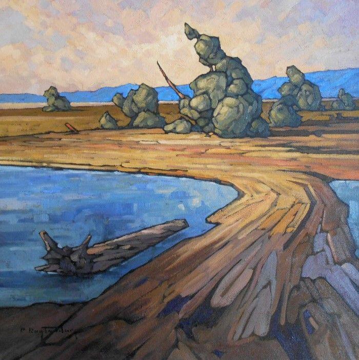 Прибрежные пейзажи маслом. Philip Buytendorp