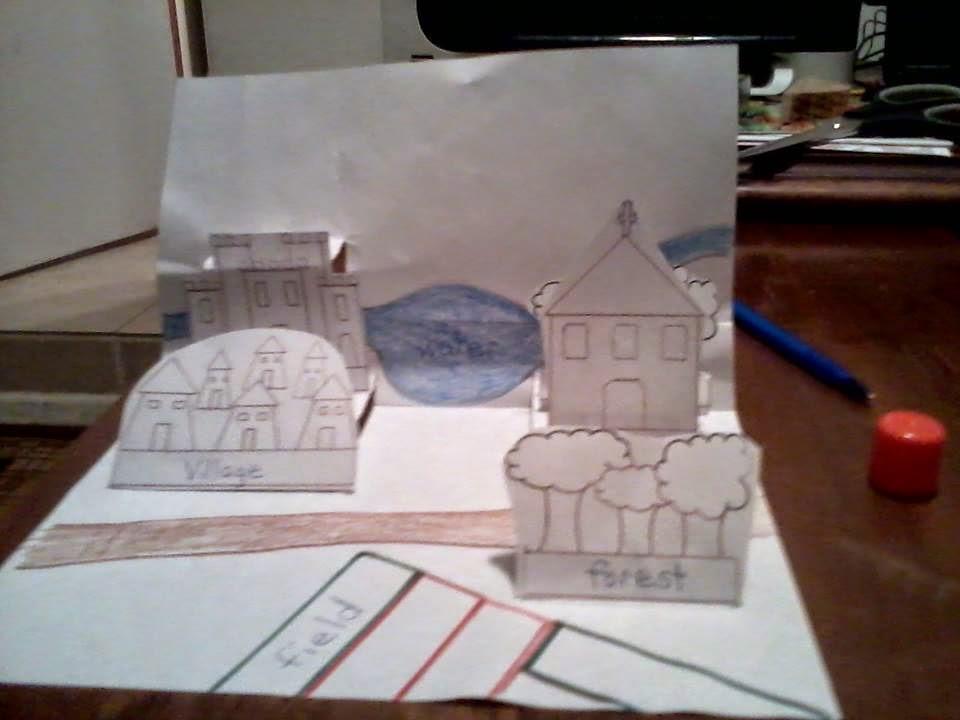 Color, Cut, Paste, Fold...POP!  (Um...In High School)