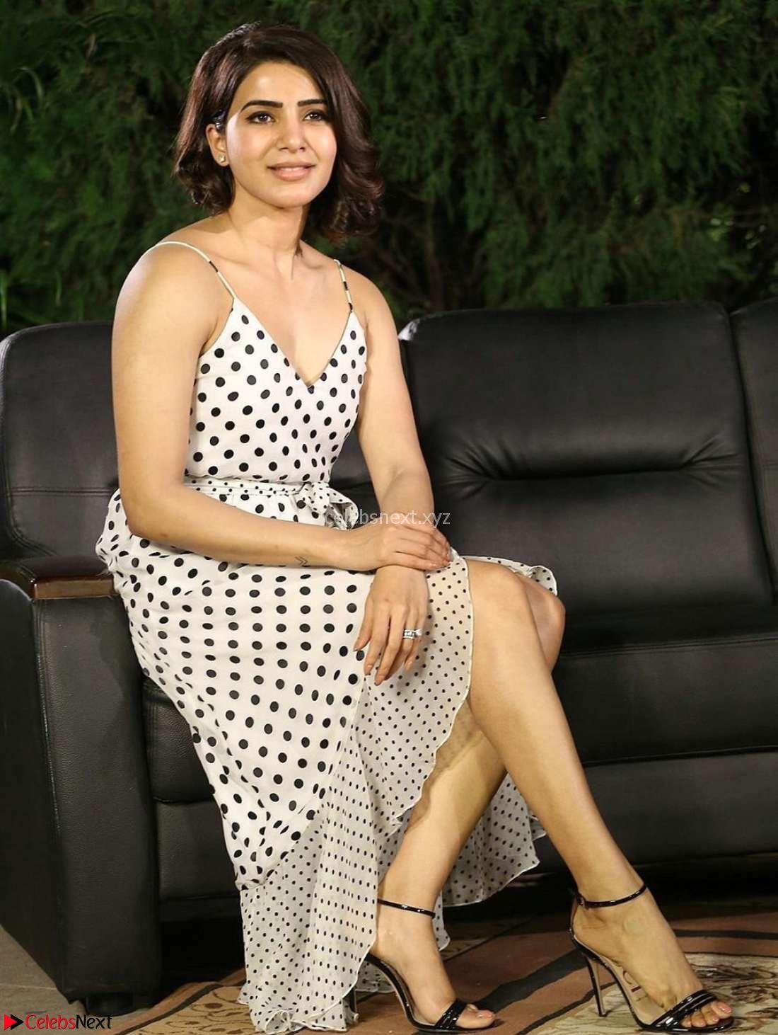 Samantha Ruth Prabhu looks super cute in a deep neck sleeveless short dress ~ Exclusive 003 - Samantha Ruth Prabhu looks super cute in a deep neck sleeveless short dress ~ CelebsNext Exclusive