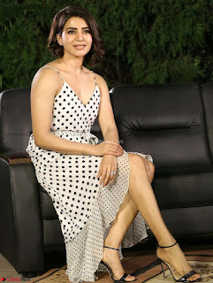 Samantha Ruth Prabhu looks super cute in a deep neck sleeveless short dress ~ Exclusive 003