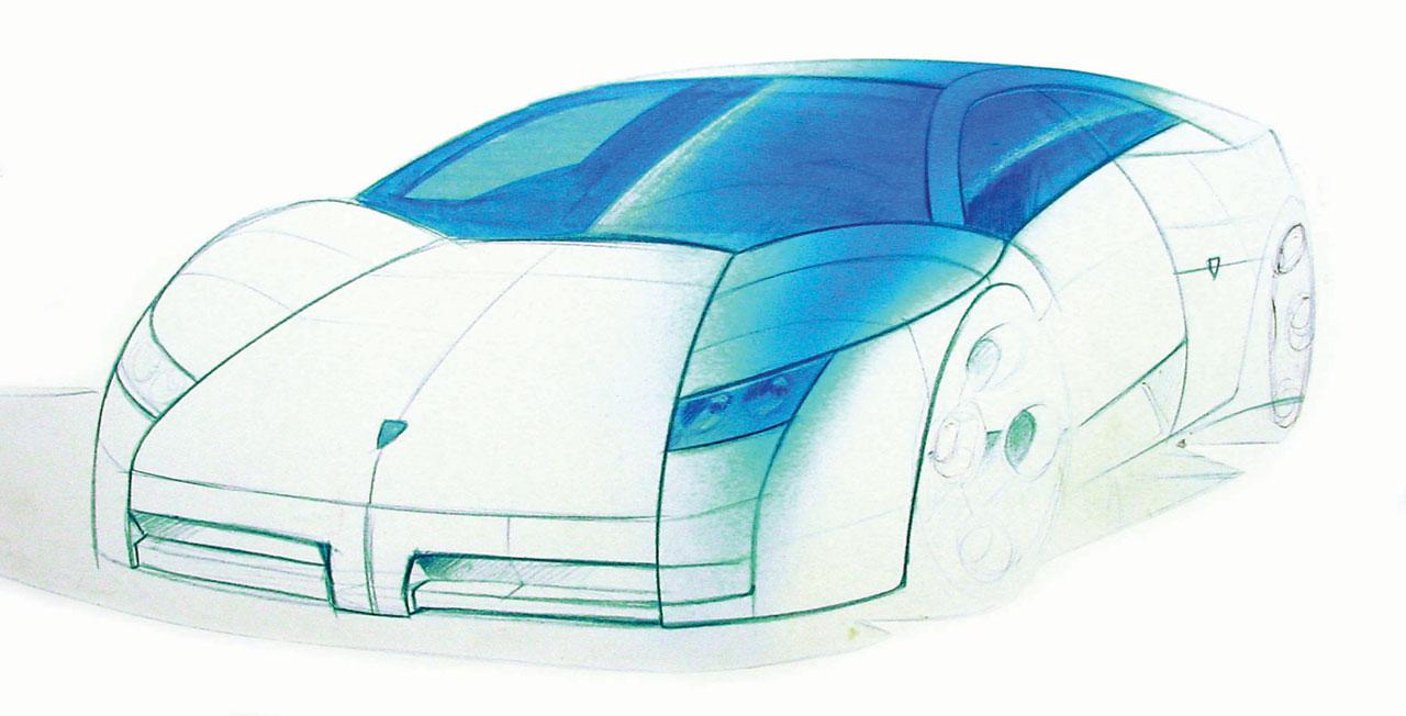 Sketsa Mobil Lamborghini Murcielago 2001