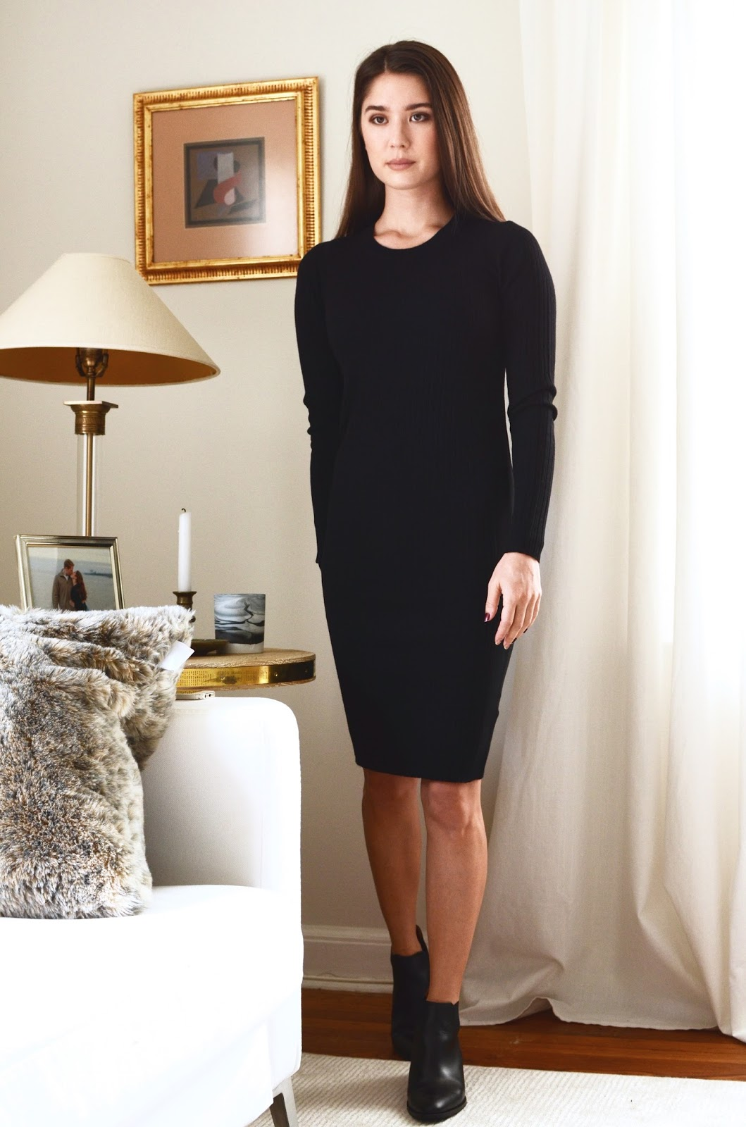 Everlane Luxe Wool Ribbed Long-Sleeve Dress Review Photos