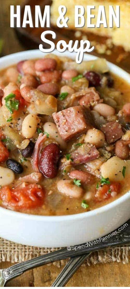 Crock Pot Ham & Bean Soup