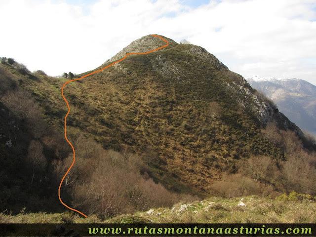 Tramo final de ascensión al Pico Cervera, Belmonte