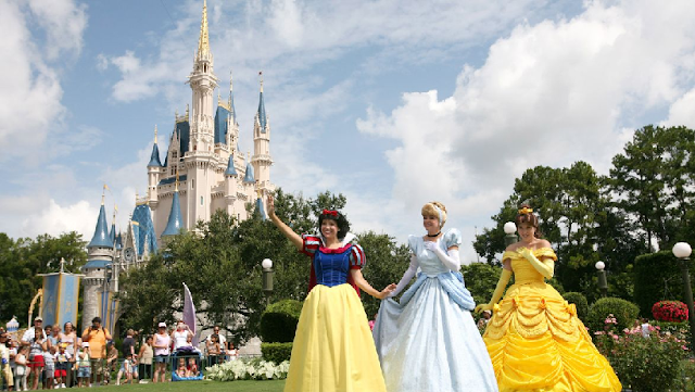 Princesas no Magic Kingdom em Orlando