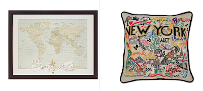 personalized map pillow frame