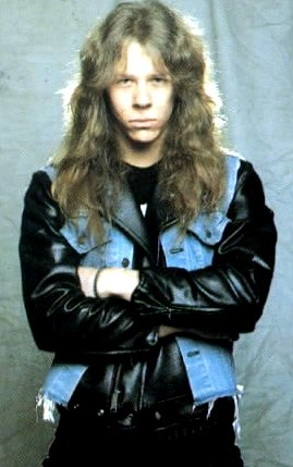 Foto de James Hetfield en sus inicios