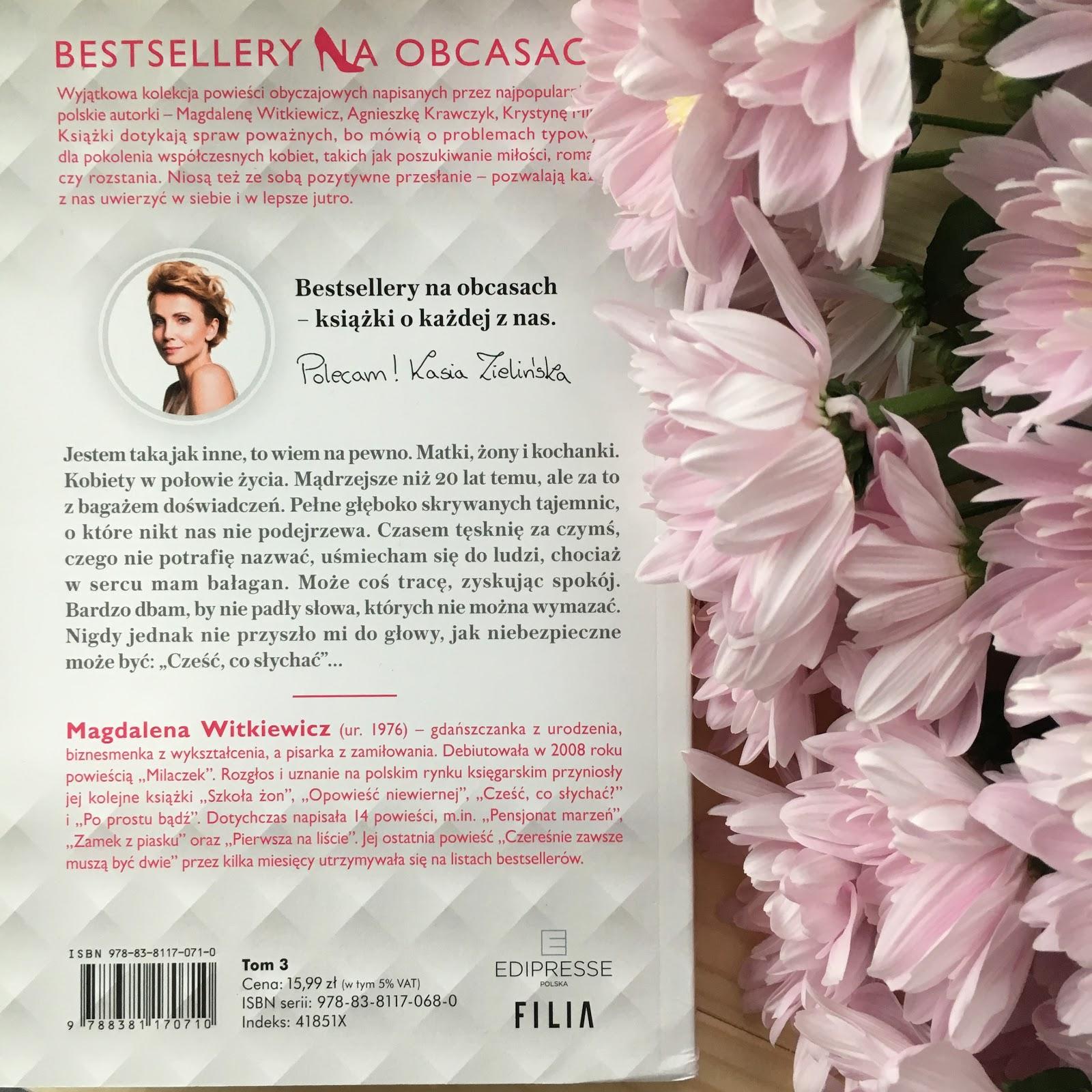 Cześć, co słychać? czyli, kolejna książka Magdaleny Witkiewicz.