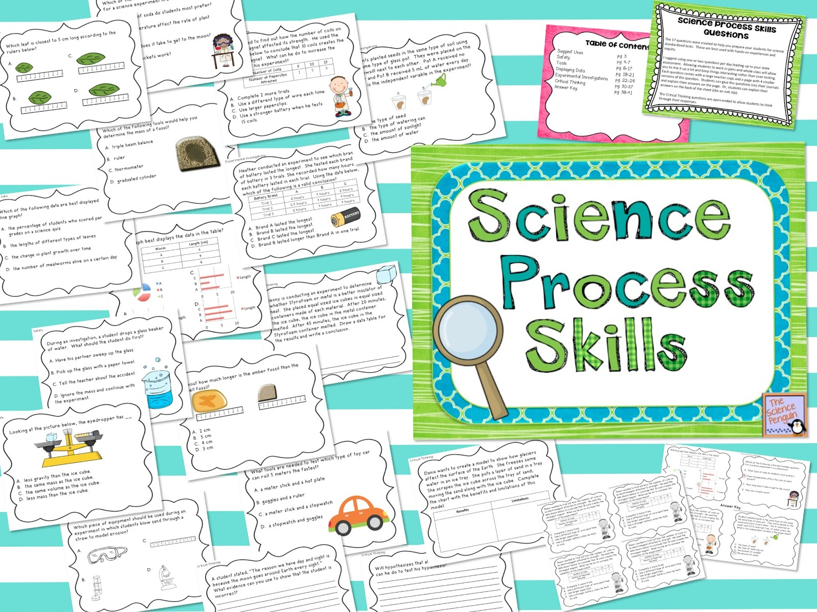 the science penguin process skills test prep and a giveaway. Black Bedroom Furniture Sets. Home Design Ideas
