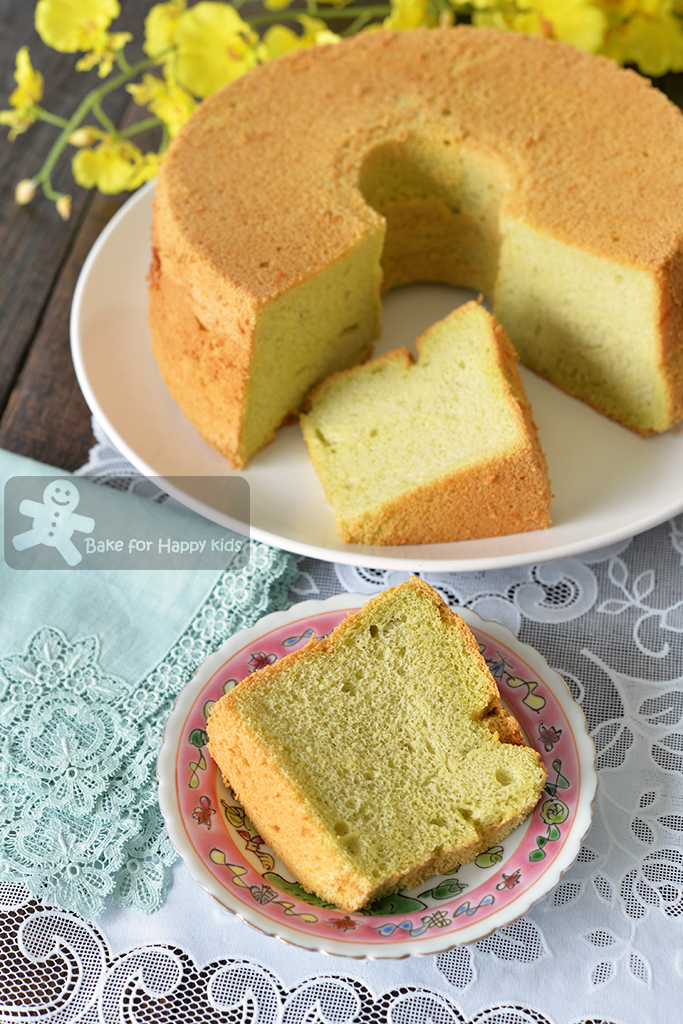 Pandan Chiffon Cake Without Coconut Milk