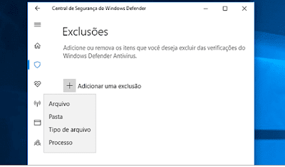 Windows Defender - Exceção (technedigitus)
