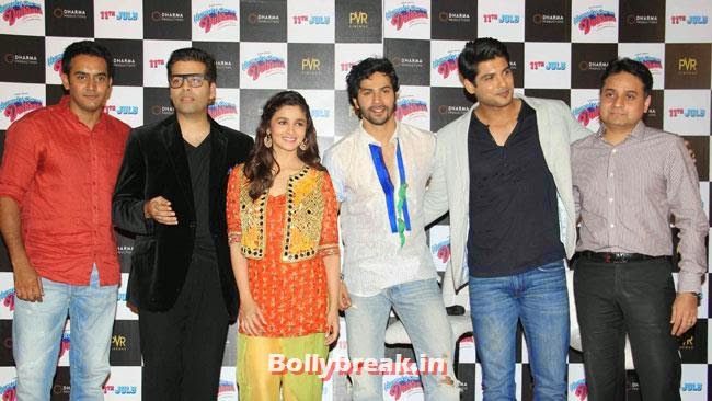 Karan Johar, Alia Bhatt, Siddharth Shukla and Varun Dhawan, Alia & Varun Sizzle at Humpty Sharma Ki Dulhania First Look Launch