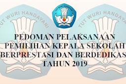 Pedoman Lomba Kepala Sekolah Berprestasi dan Berdedikasi 2019