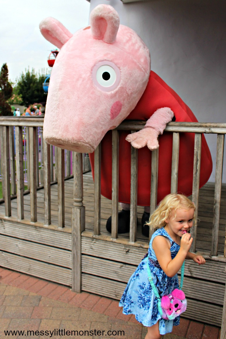 meeting characters at peppa pig world
