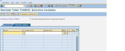 Learn Abap Programming: Table TVARVC