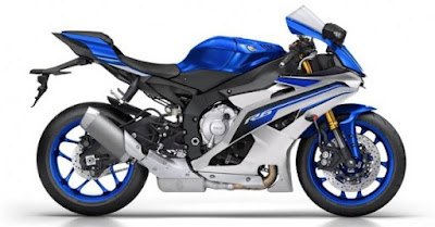 2016 Yamaha YZF-R6 side view blue image