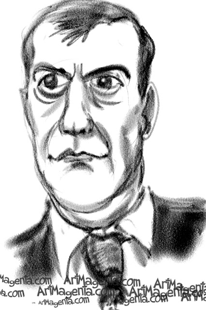 Dmitry Medvedev is a caricature by caricaturist Artmagenta