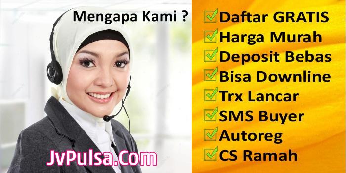 JvPulsa.com Web Resmi Java Pay Pulsa Imam Ghozali PT AER Termurah