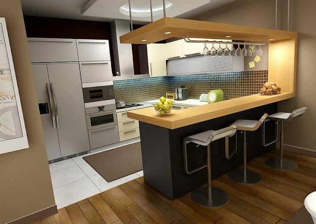Contoh desain elegant dapur kecil minimalis