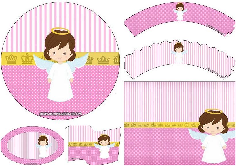 Angelita Mini Kit para Bautizo para Imprimir Gratis  Oh My Beb