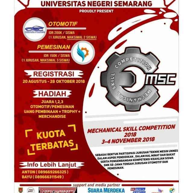 Lomba Mechanical Skill Competition 2018 SMK