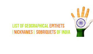 List of Geographical Epithets of India pdf