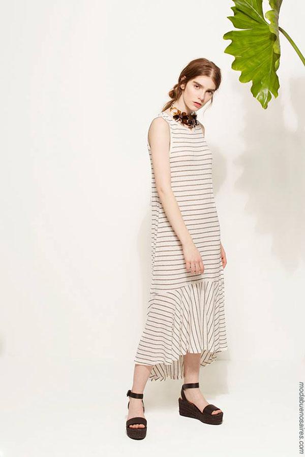 Vestidos primavera verano 2018 ropa de moda mujer. Moda verano 2018.