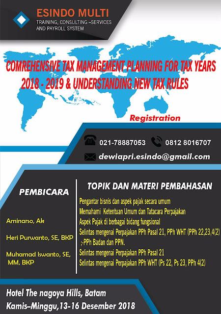 Esindo Batam Training (www.taxedu.web.id)