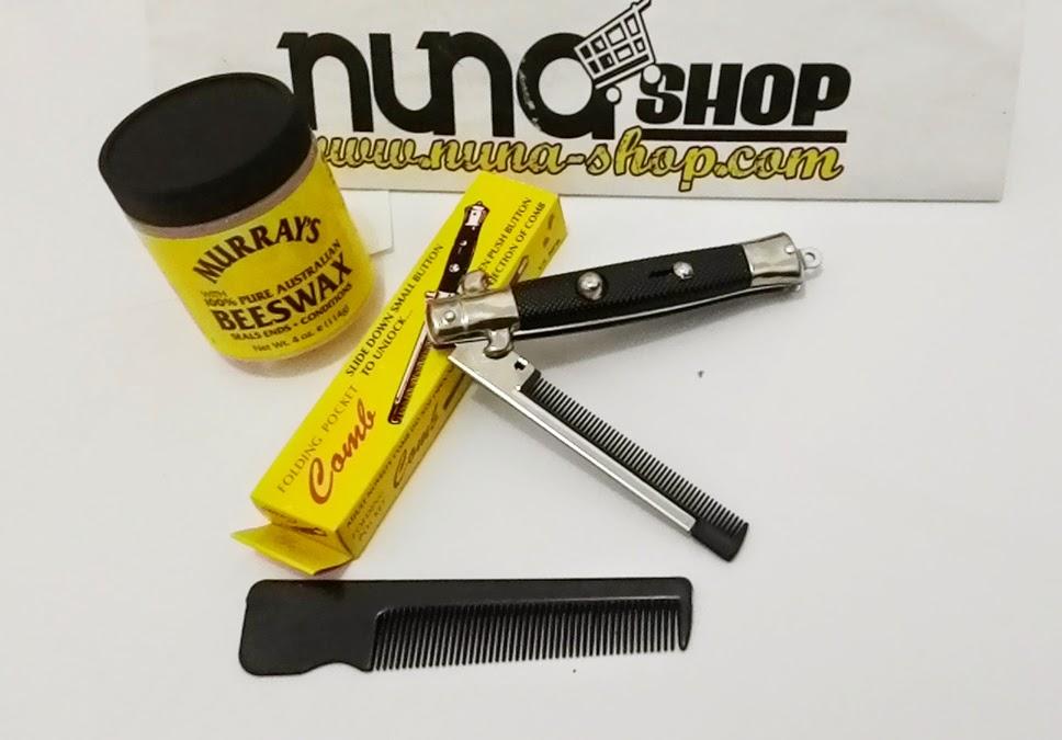 Paket Hemat Pomade Murray's Beeswax + Switchblade Comb