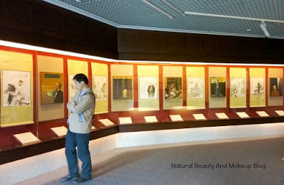 Gallery portraying exhibits related to history and development of Macau at Macau Museum