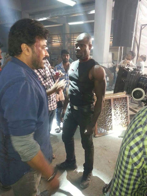 Khaidi no 150 climax shoot working stills